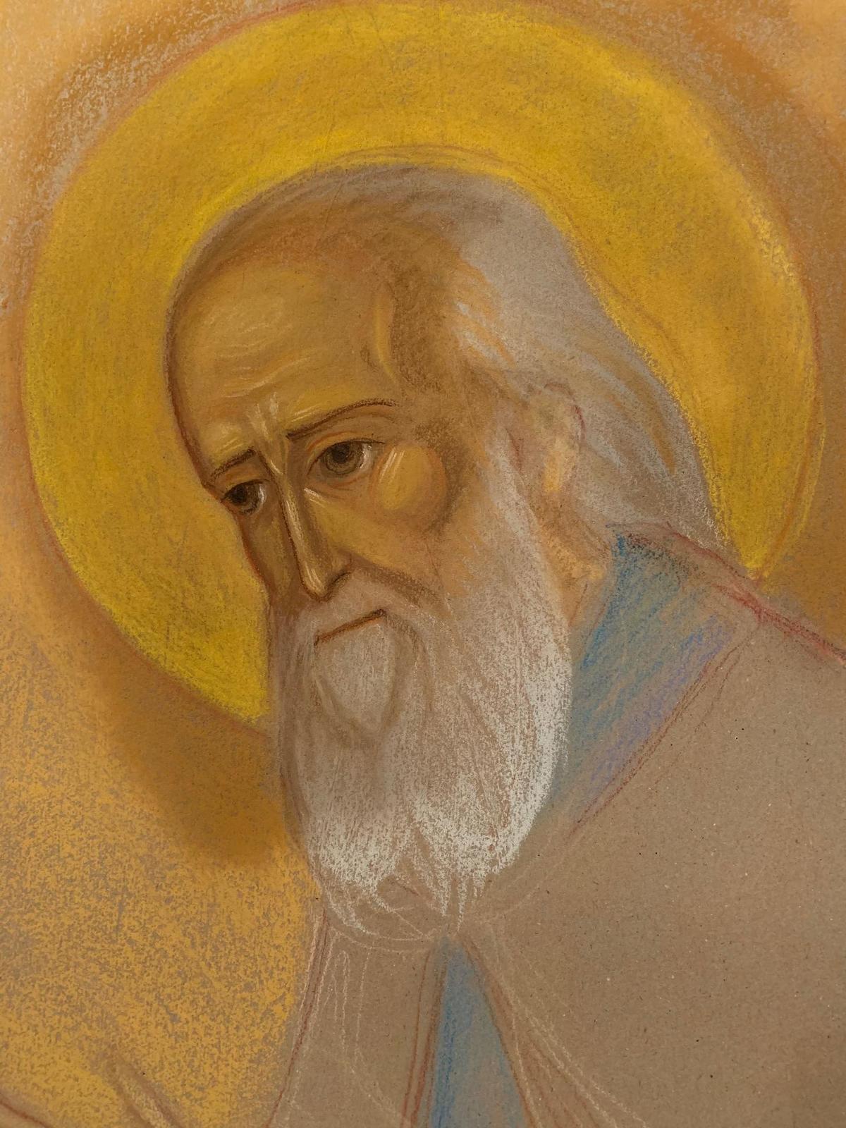 La réalisation de l'icône de Saint Sophrony
