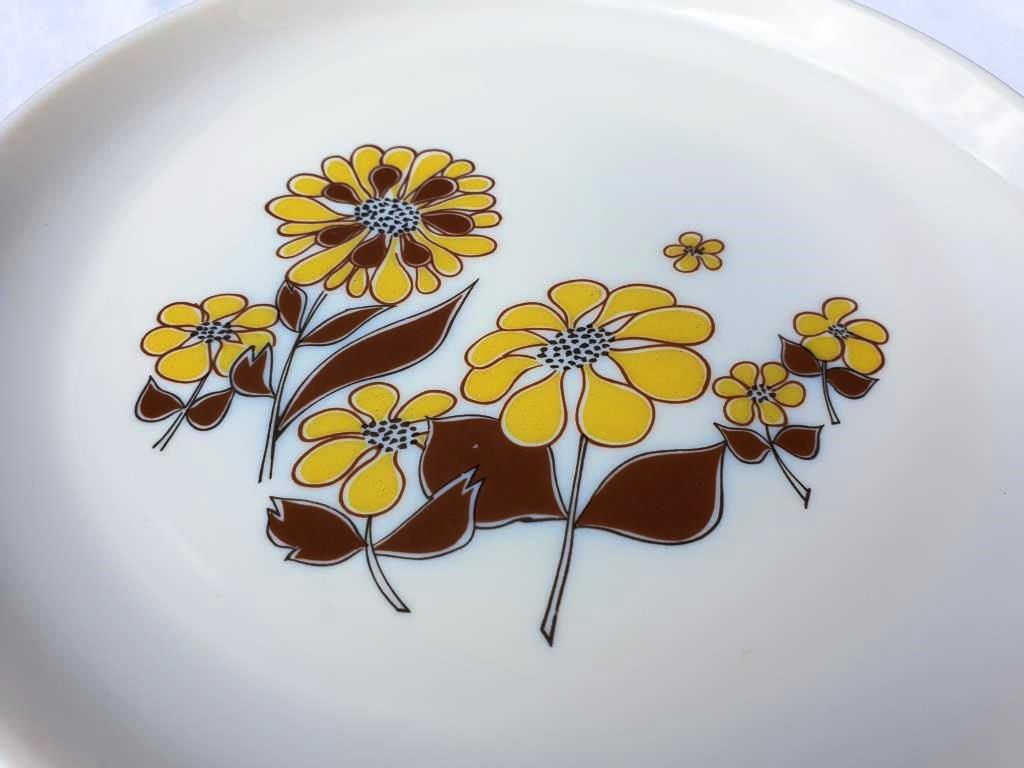 SET 5 ASSIETTES PLATES SOVIREL 1970