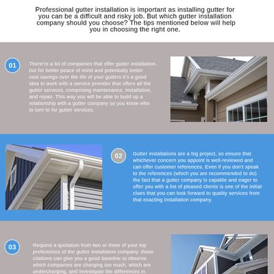 3 important tips to choose the most excellent gutter installation company