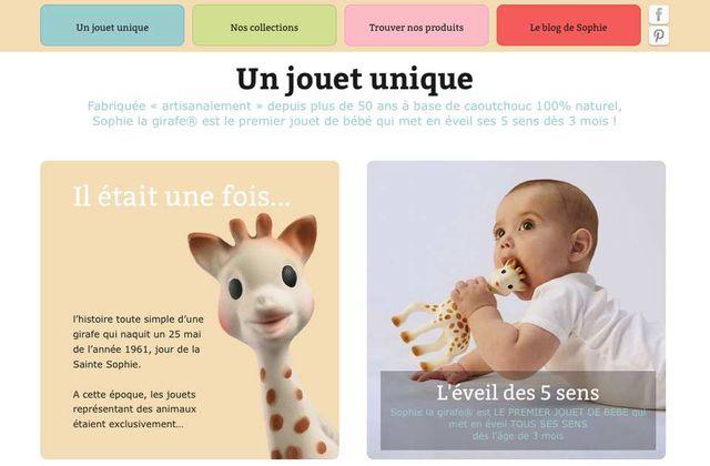 """[Web] Le site du mois : à la découverte de """"Sophie la Girafe"""" (le site)"""