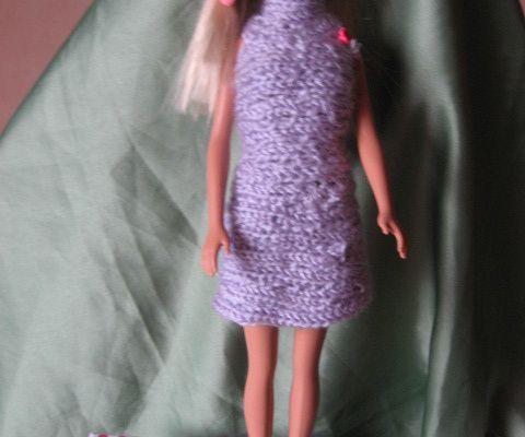 Tenue de soirée et robe en tricotin poupée mannequin