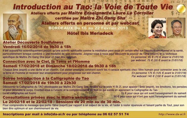 Introduction au Tao. Ateliers avec Laure Le Corroler