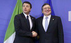 Renzi finge di litigare con Barroso...