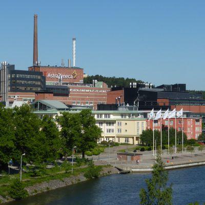 Le site d'AstraZeneca à Södertälje (Suède)