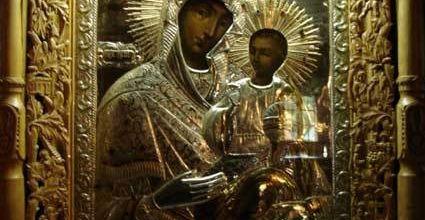 Icoana Maicii Domnului izvoratoare de mir de la manastirea Rarau