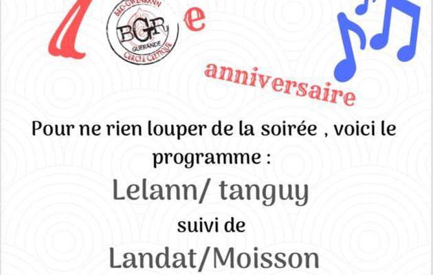 Guérande. Anniversaire de cercle Bro Gwenrann -  Fest-noz le21 septembre 2019