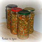 Conserves de macédoine de légumes