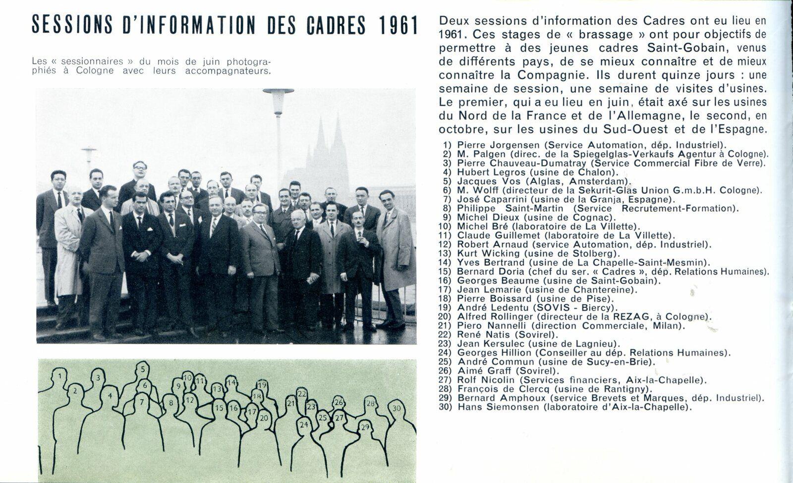 Album- groupe Saint-Gobain, la formation des Hommes et des Femmes ( cadres maitrises) à Saint-Gobain