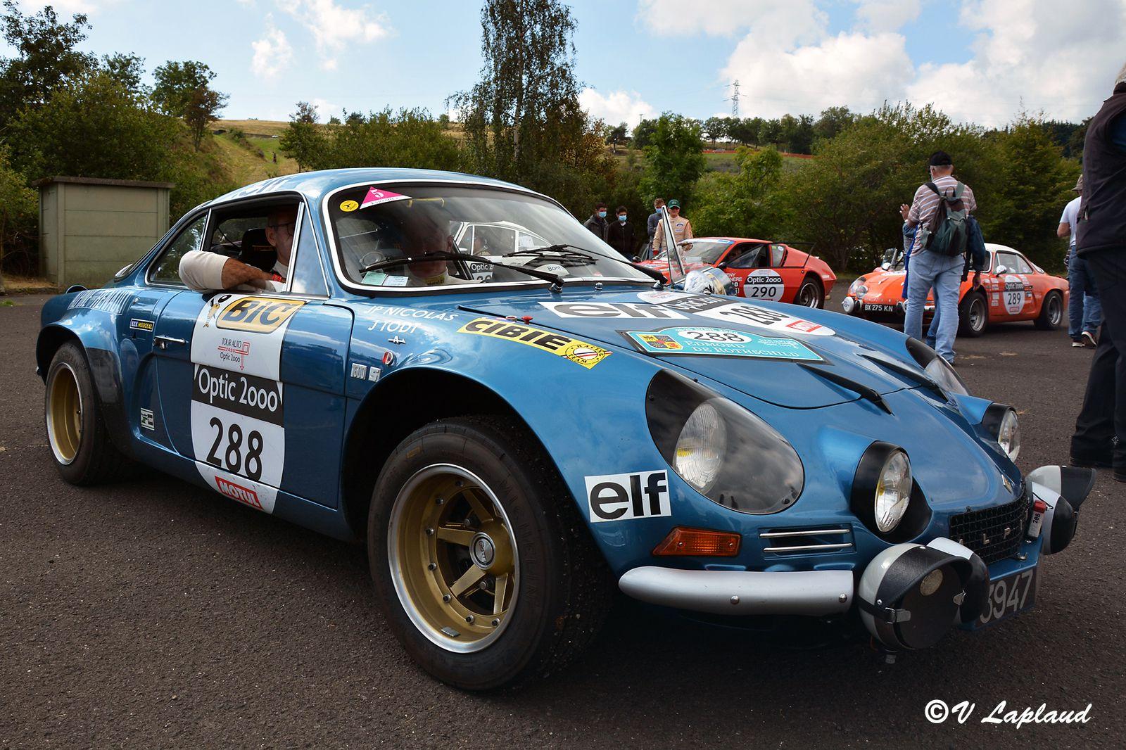 Christian Chambord et Patrick Fourestie, Alpine A110 1600S Gr IV, Charade, Tour Auto 2020.