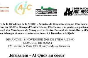 SERIC 2018 : Massy « Jérusalem - Al Quds au cœur »
