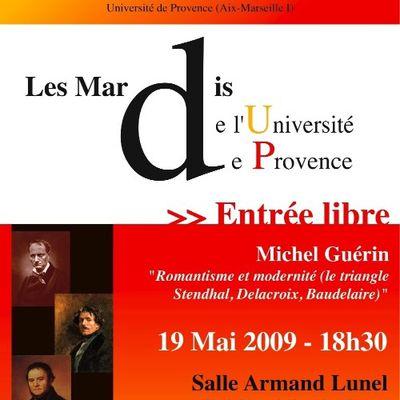 Romantisme et modernité, conférence par Michel Guérin