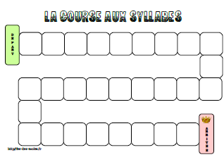 La course aux syllabes