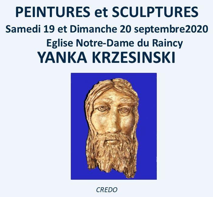 Exposition de peintures et sculptures samedi 19 et dimanche 20 septembre 2020