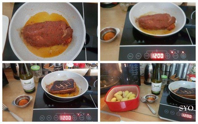 Magret de canard , Truite fumée , Pommes de terre du Petit Bistro