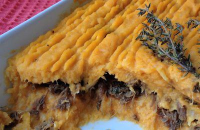 parmentier confit de canard,purée céleri/patate douce
