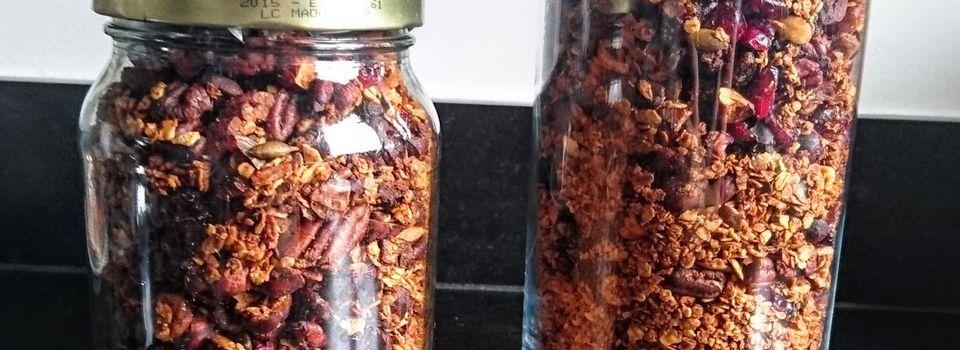 Granola épicé - noisette - noix de pécan - canberries
