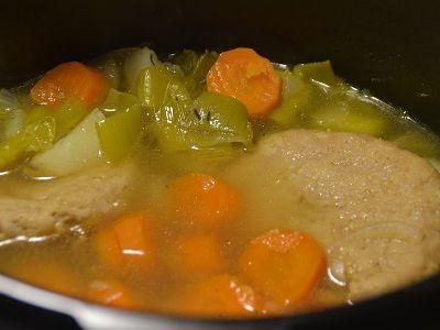 Hachés de poulet aux légumes au cookeo