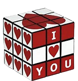 I Love you - Cube - Coeurs - Amour - Render-Tube - Gratuit