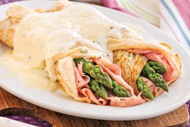 Crepe asperge fromage