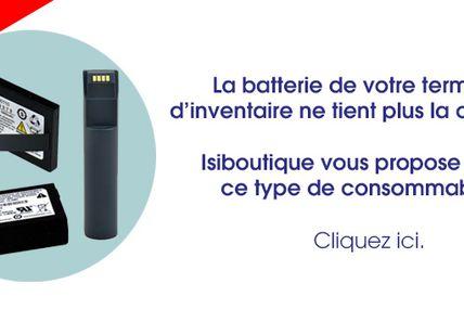 Batteries de terminal d'inventaire sur Isiboutique