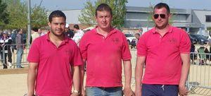 La triplette Thierry Zulian, Keny Champigneul Cautant, Sébastien Lacroix championne du secteur des 4 Vallées.