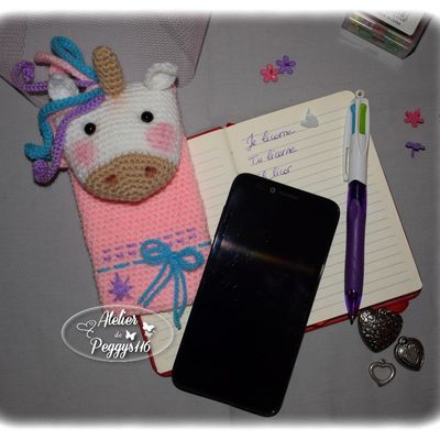 Pochette portable Licorne (Tutoriel Gratuit)