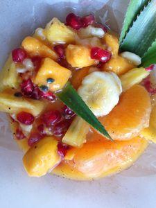 Pour lutter contre les virus de l'hiver, rien ne vaut une salade de fruits frais !!