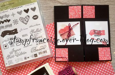 "Projet d'Atelier démonstration Stampin'Up ""carte sans fin"" scellée d'un baisé/Sealed with Love Bundle"