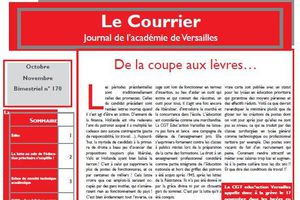 Le Courrier Octobre-Novembre : journal de la C.G.T Educ'action Versailles.