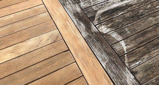 Misterbricolo vous dit comment dégriser une terrasse en bois ...
