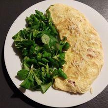 Omelette jambon fromages de Cyril Lignac dans tous en cuisine