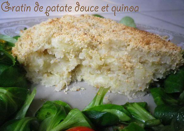 Gratin de patate douce et quinoa