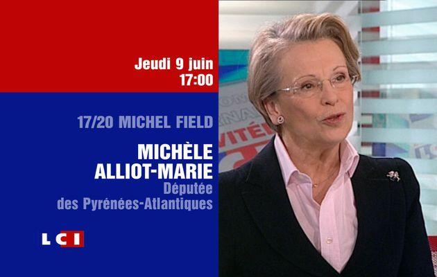 Michèle Alliot-Marie invitée sur LCI le jeudi 9 juin à 17h
