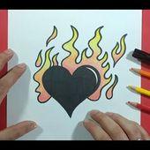 Como dibujar un corazon paso a paso 14   How to draw a heart 14