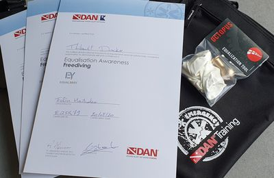 Very first Belgian and French DAN Equalization Awareness (Freediving) providers!