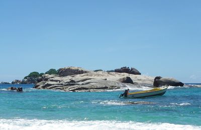 Excursion sur Coco, Félicité et Grande-Sœur depuis l'île de la Digue pour nager avec des tortues
