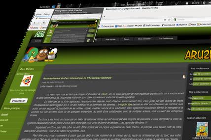 TaskBar with Desktop button !