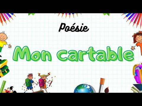 Poésie Mon cartable de Pierre Gamarra