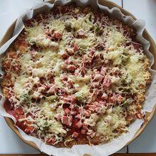 Pizza à la pâte de chou-fleur...