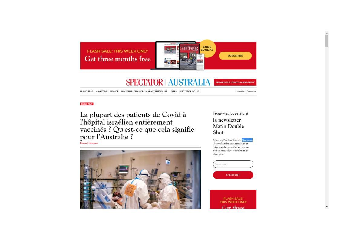Source : https://spectator.com.au/2021/08/most-covid-patients-at-israeli-hospital-fully-vaccinated-what-does-this-mean-for-australia/