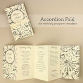 DIY Tutorial: FREE Printable Folded Wedding Program - Boho Weddings™