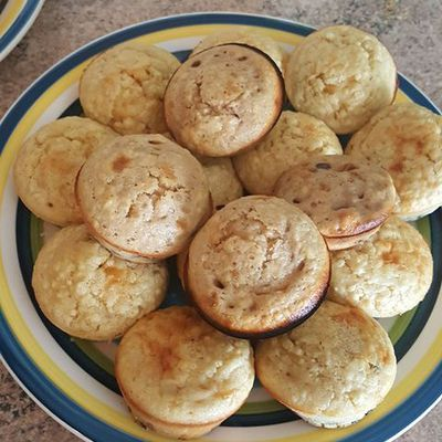 Mini muffins aux pépites de chocolat :