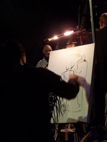 Performance peinture et musique