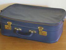 Valise bleue Lancel Années 70 - Vintage