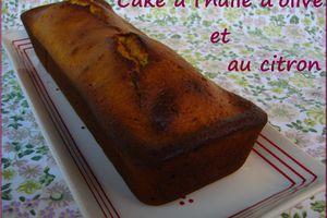 Cake à l'huile d'olive et au citron (sucré)