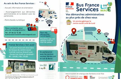 A compter du 4 octobre 2021 : Bus France Services  pour vos démarches administratives