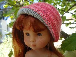 Chapeau réversible pour poupée chéries de corolle ( tuto)
