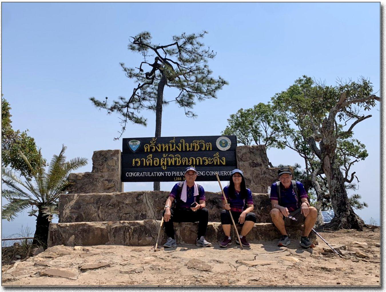 La grimpée sur Phu Kradung (Thaïlande)