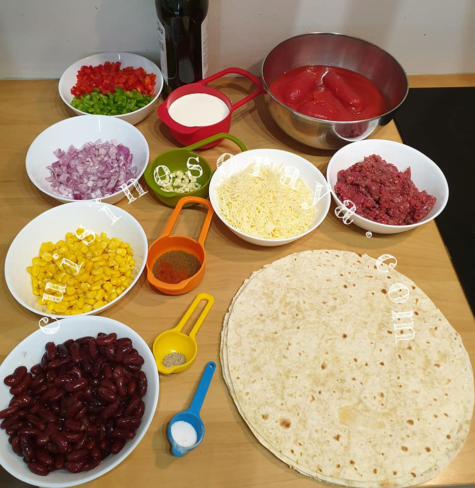 Lasagnes tortillas mexicaines