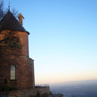 l'église du Mont Sainte Odile et la marqueterie Spindler en Alsace